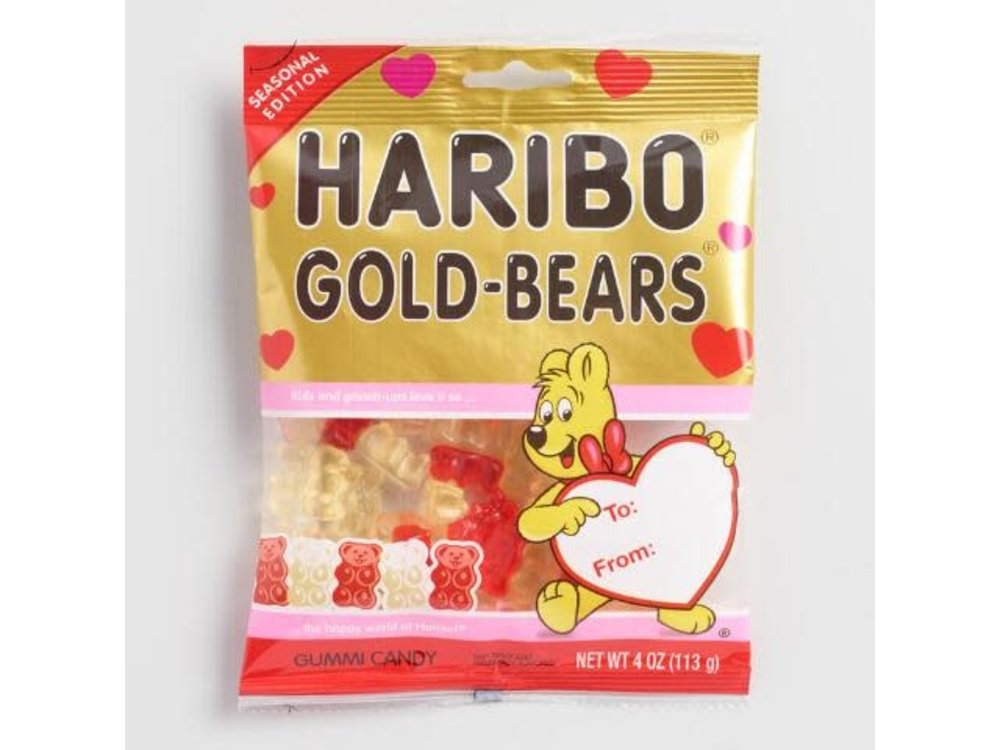 Haribo Haribo Valentines Gold Bears Bags 4 oz
