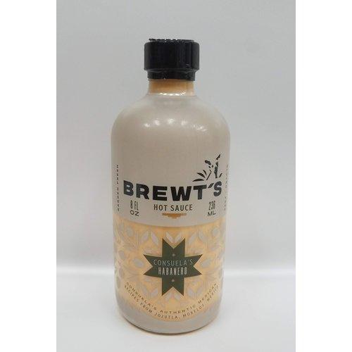 Brewts Consuela's Habanero Hot Sauce 8 Oz Jar