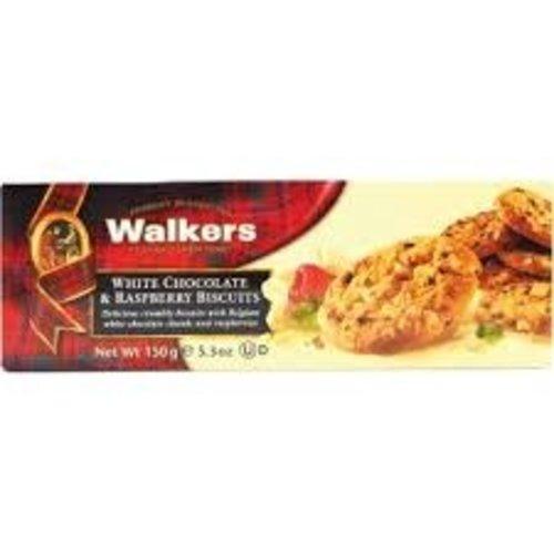 Walkers Walkers White Chocolate Raspberry Shortbread 5.3 oz 12/cs