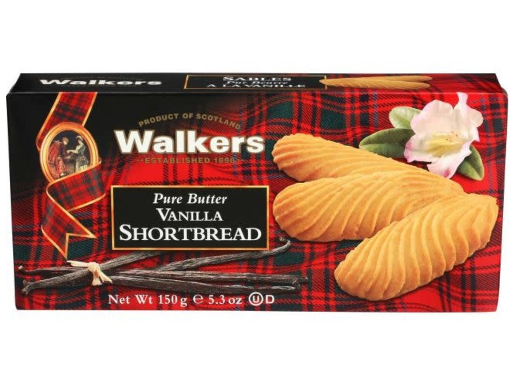 Walkers Walkers All Butter Vanilla Shortbread 5.3 oz  12/cs