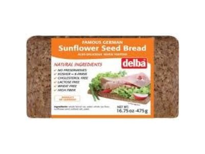 Delba Delba Sunflower Seed Bread 16.75 oz 12/cs