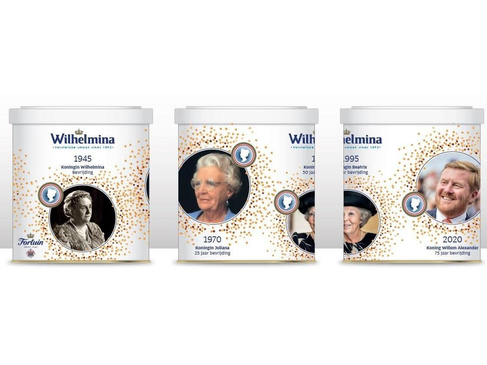 Wilhelmina Wilhelmina 75th Bevrijdings Anniv Tin 17.5 oz
