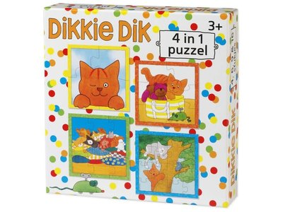 Games Puzzle Dikkie Dik 4 puzzles in one Box (4,6,9,16 pc) Kids