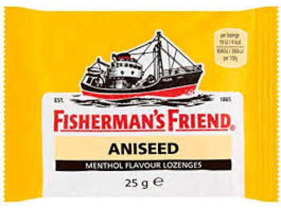 Fishermans Friend Fisherman's Friend Strong Yellow Anis 25g Bag