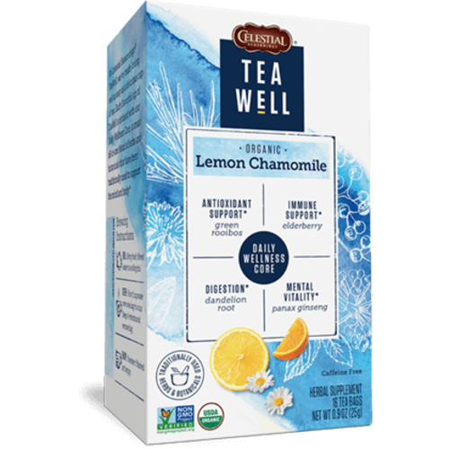 Teawell Teawell Organic Lemon Chamomile Tea 16 ct