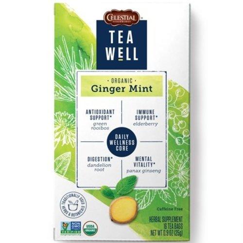 Teawell Teawell Organic Ginger Mint Tea 16 ct