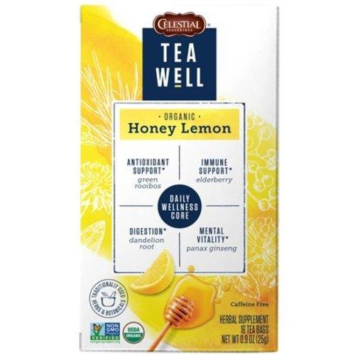 Teawell Teawell Organic Honey Lemon Tea 16 ct