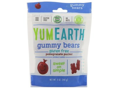 Yummy Earth Yummy Earth Pomegranate gummy bears 5 oz bag