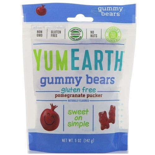 Yummy Earth Yummy Earth Pomegranate gummy bears 5 oz bag