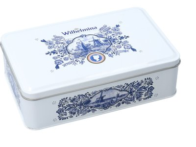 Wilhelmina Wilhelmina Peppermint Delft Rectangle Tin 17.6 Oz