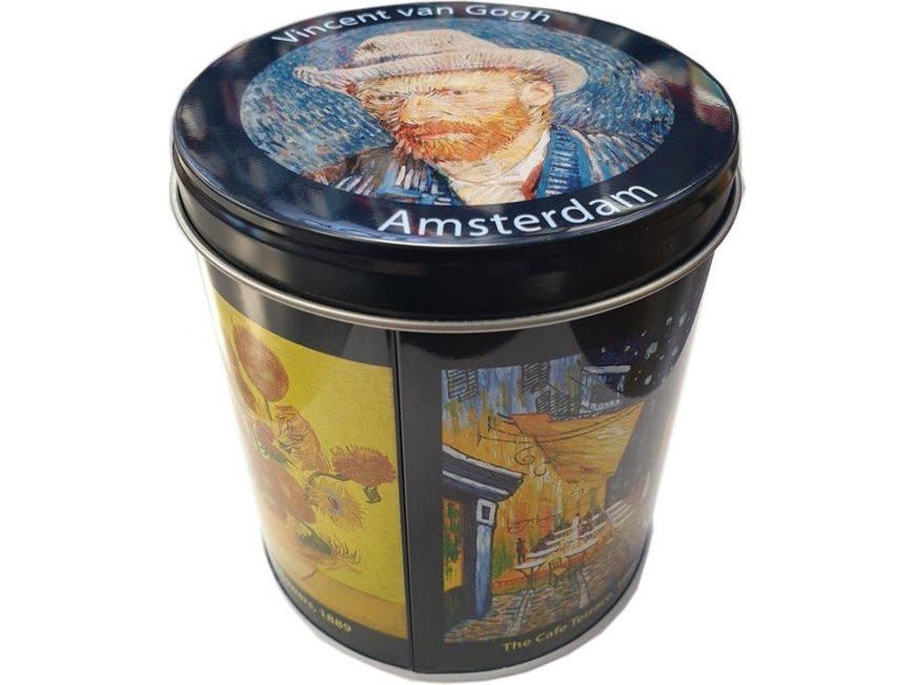 KM Van Gogh Design Multicolor Stroopwafel Tin 8.8 oz