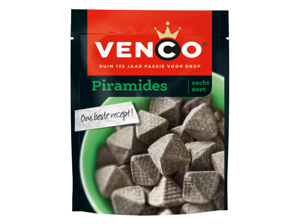 Venco Venco Piramids Licorice 8oz Bag  -226g