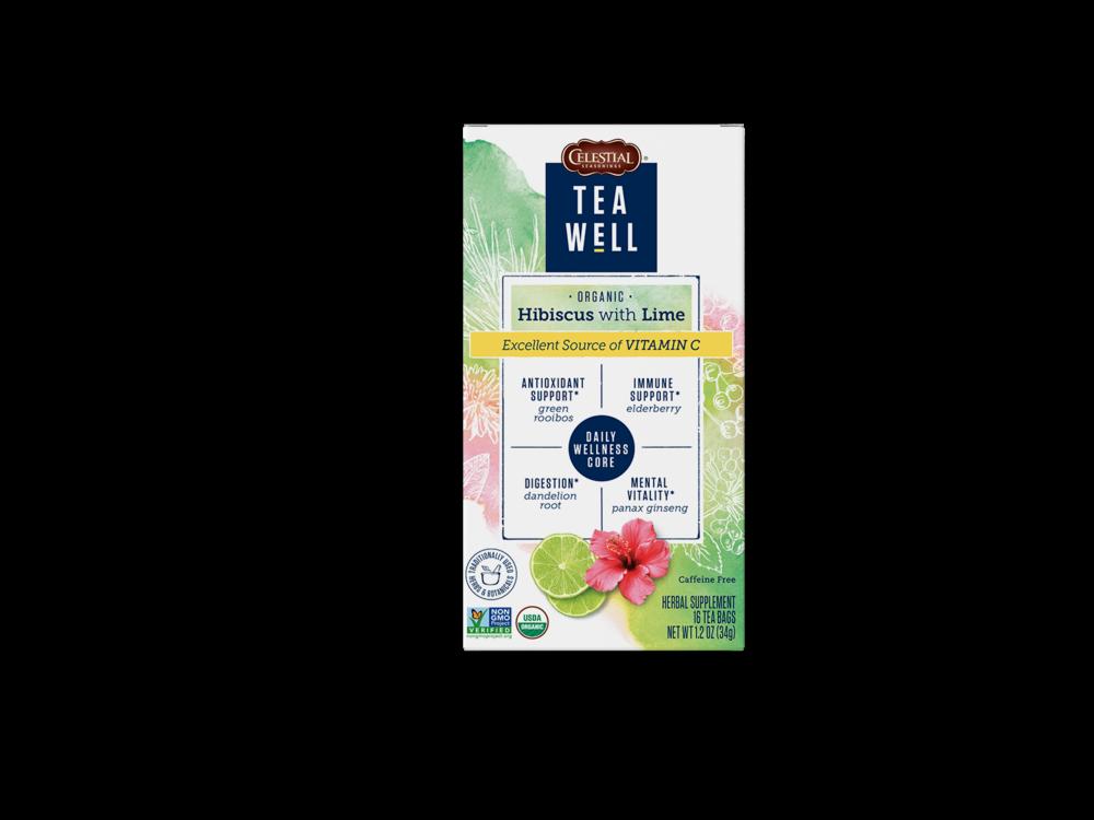 Teawell Teawell Hibiscus with Lime Tea 16 ct