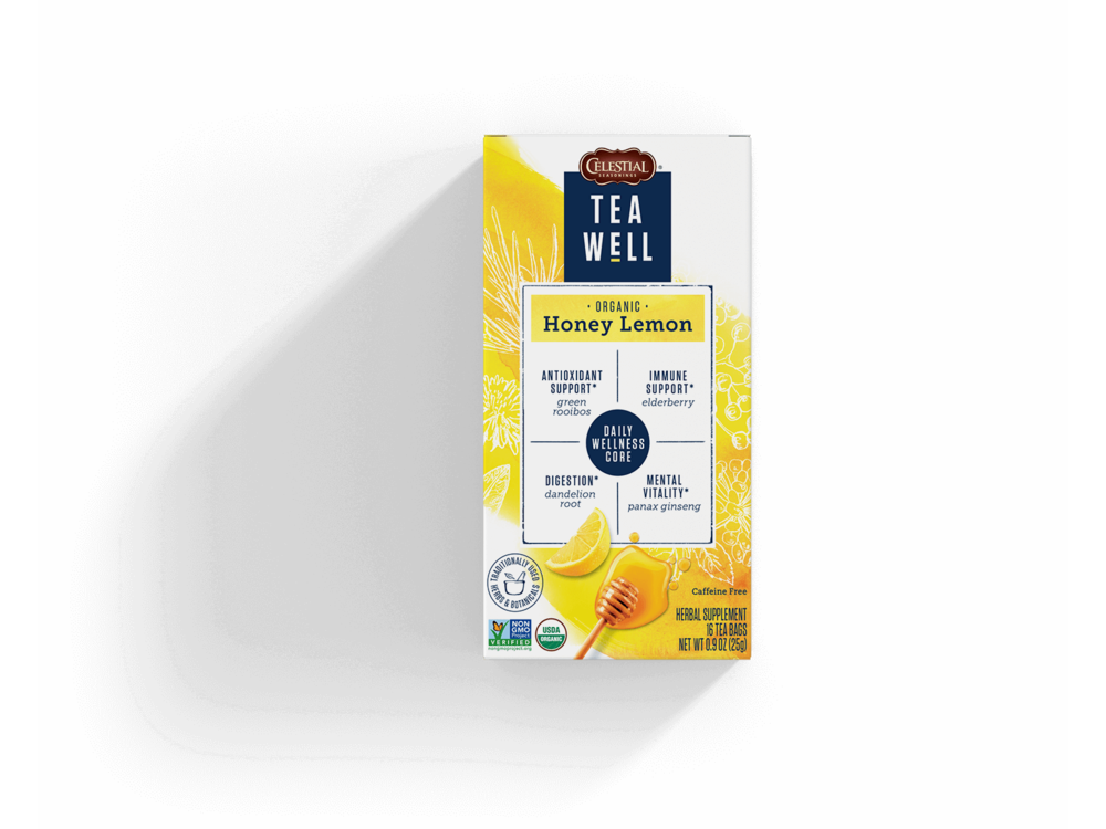 Teawell Teawell Organic Honey Lemon Tea 16 ct