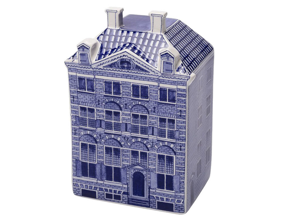 """Delft Canal Large Rembrandt House  5.5"""" Tall"""