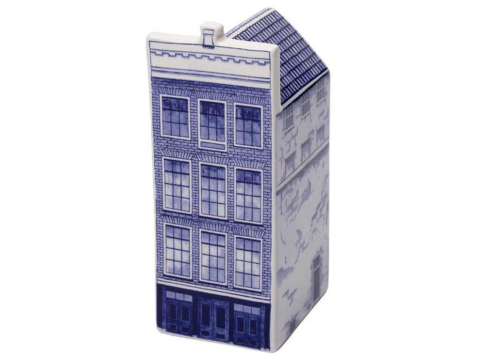"""Delft Canal Large Anne Frank House  5.5"""" Tall"""