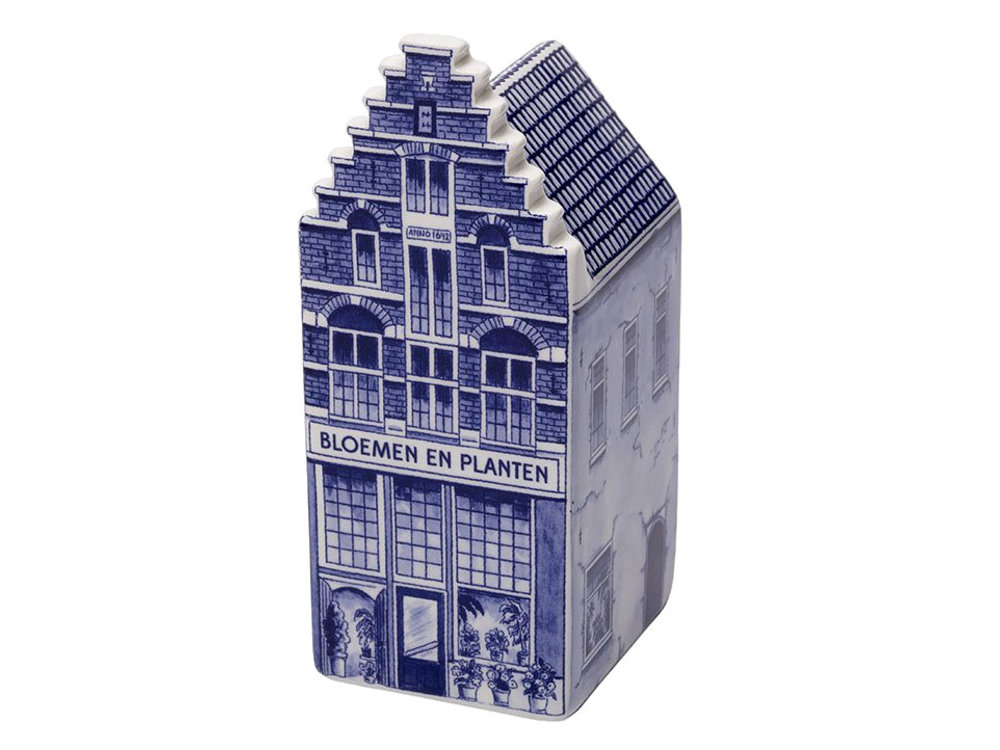 """Delft Canal House Flower Shop 5.5"""" inch Tall"""