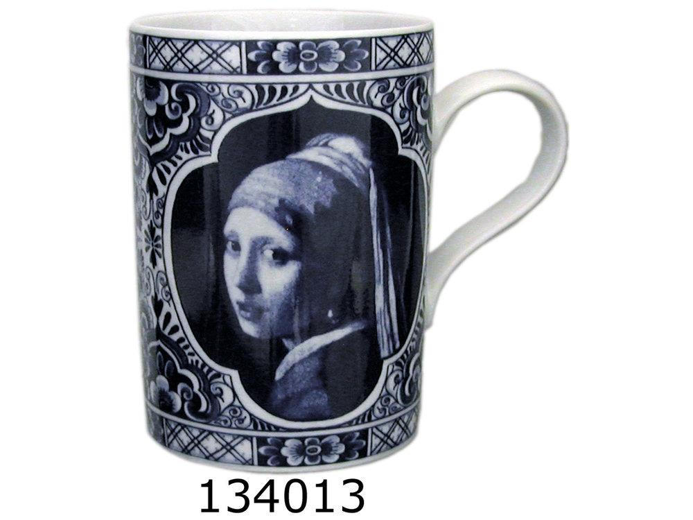 Delft Mug Girl with Pearl Gift Boxed 8 oz