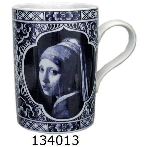 Delft Mug Girl with Pearl Gift Boxed 8 oz
