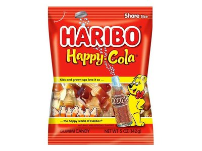 Haribo Haribo Happy Cola Bottles 5oz Bag 12/cs