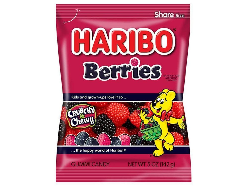 Haribo Haribo Berries 5oz Bag 12/cs
