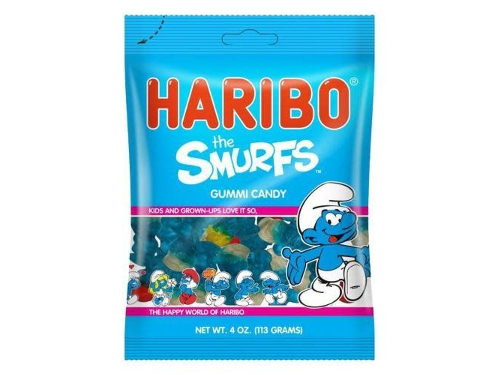 Haribo Haribo Smurf Gummi Candy 5oz Bag 12/cs