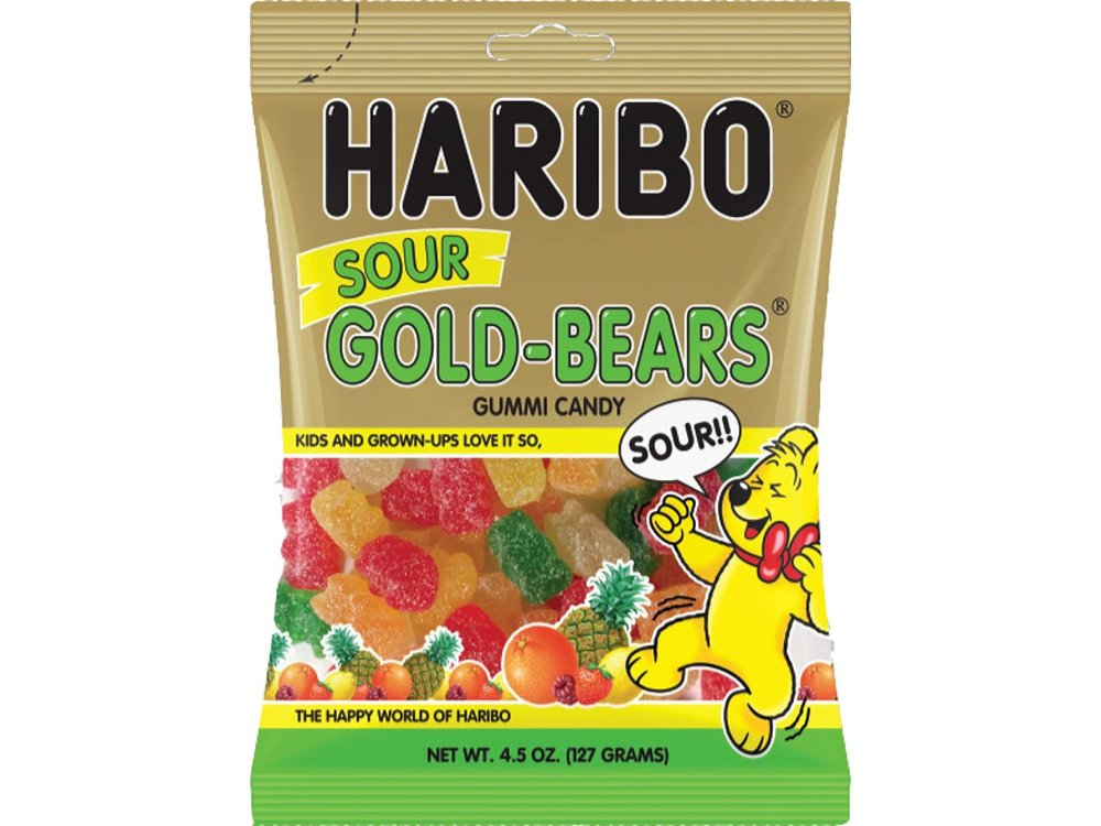 Haribo Haribo Sour Bears 4.5oz Bag 12/cs