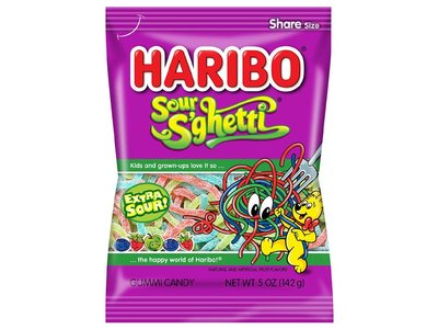 Haribo Haribo Sour Spaghetti 5oz Bag 12/cs