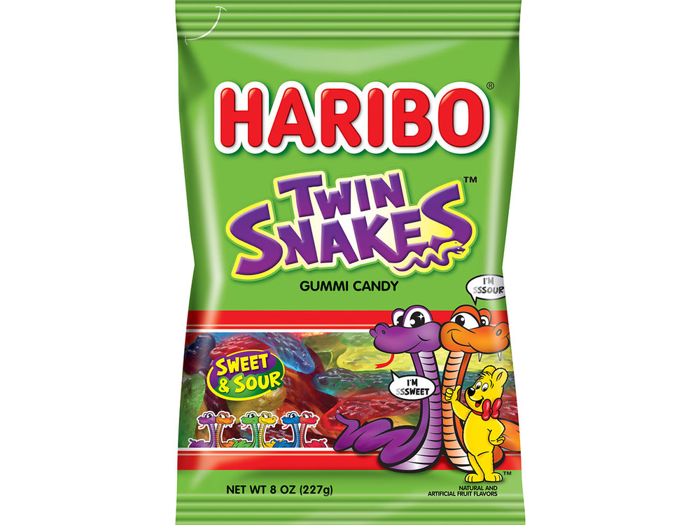 Haribo Haribo Twin Snakes Sweet & Sour 5oz Bag 12/cs