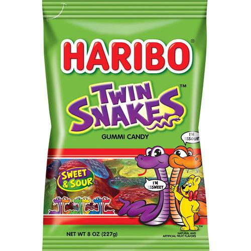 Haribo Haribo Twin Snakes Sweet & Sour 5oz Bag 12/cs