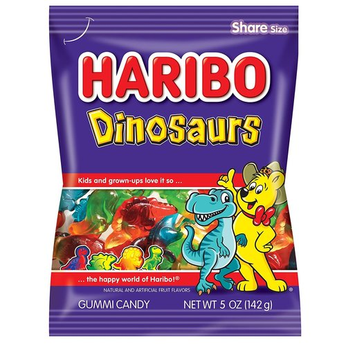 Haribo Haribo Gummi Dinosaurs 5 oz Bags 12/cs