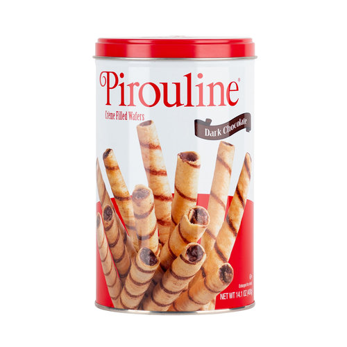 De Beukelaar Debeuk Dark Chocolate Pirouline 14oz Tin
