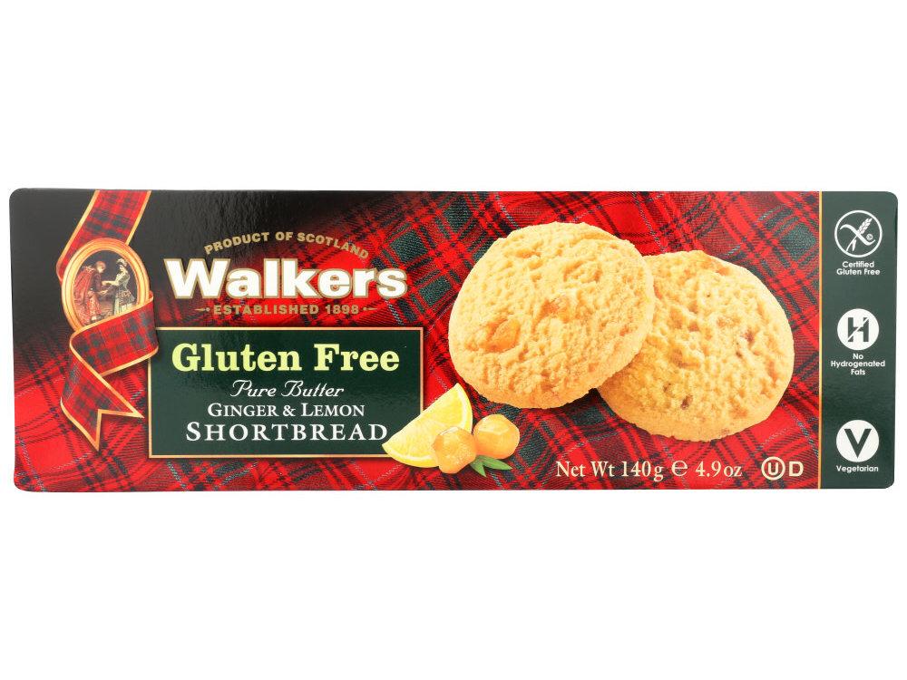 Walkers Walkers GF Ginger Lemon Shortbread Cookies 4.9oz