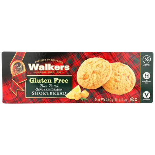 Walkers Walkers GF Ginger Lemon Shortbread Cookies 4.9oz
