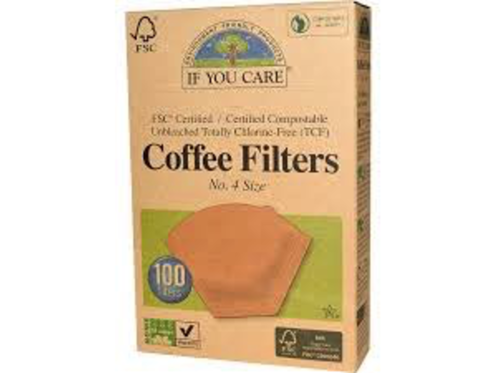 If You Care All Natural Coffee Filter No4 100 ct