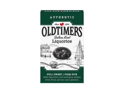 Old Timers Old Timers Sailors  Sweet Knots Licorice 7 oz Green Box