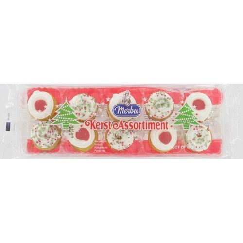 Merba Merba Mini Christmas Creme Cookies 6.3 oz