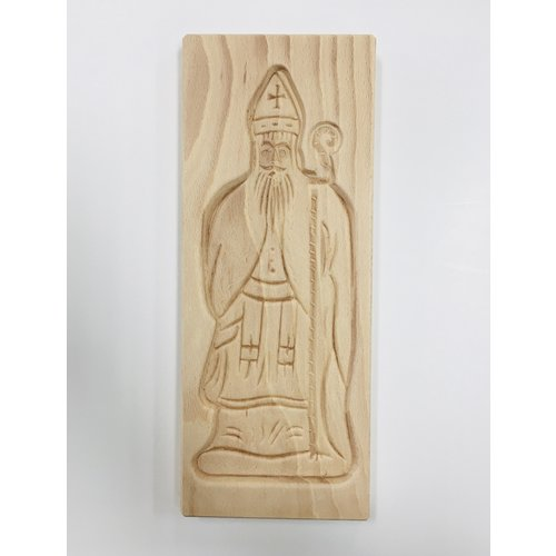 "Nelis Imports Wood Sinterklaas Cookie Mold 11.5"" x 4.25"""
