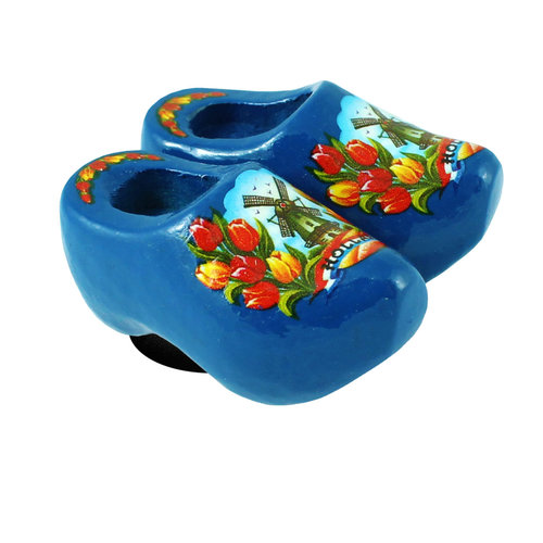 Nelis Imports Magnet Wooden Shoe Blue 1.75 inch