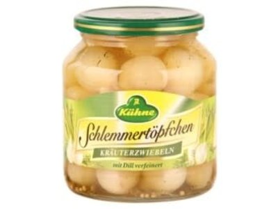 Kuhne LG Silver Onions with Dill 17.5 oz jar