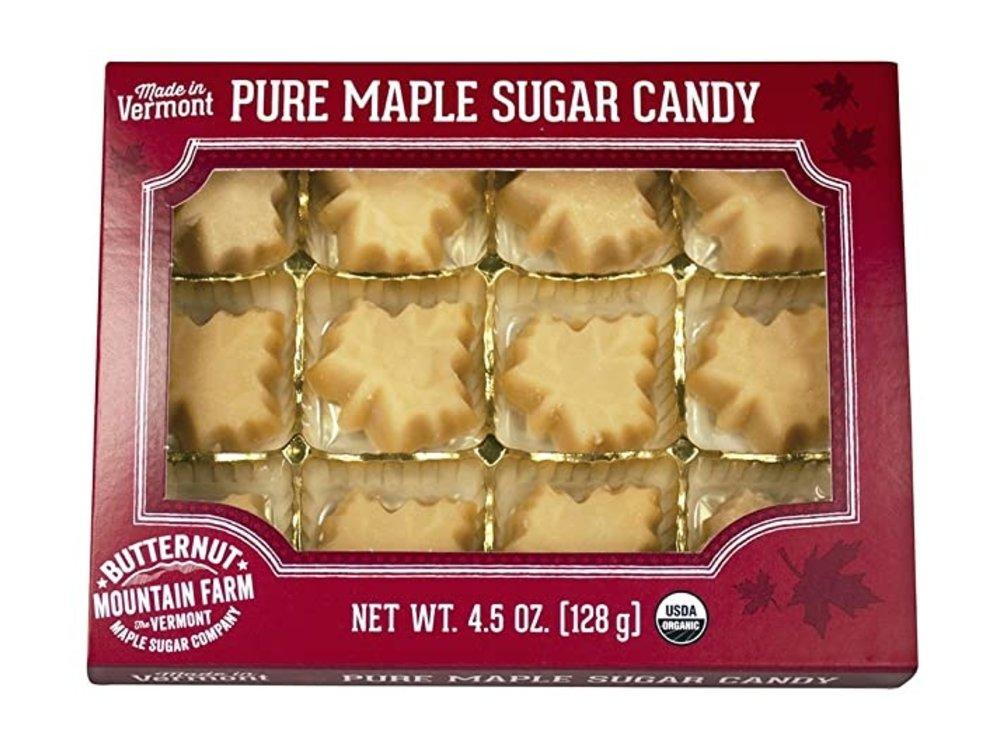 Butternut Mountain Farm Pure Maple Sugar Candy 4.5 oz Box