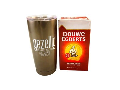 Gift Basket Gezellig Travel Gift Stainless Steel travel mug & 500 gr coffee