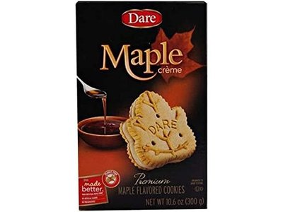 Dare Maple Leaf Creme Cookie 10 oz box