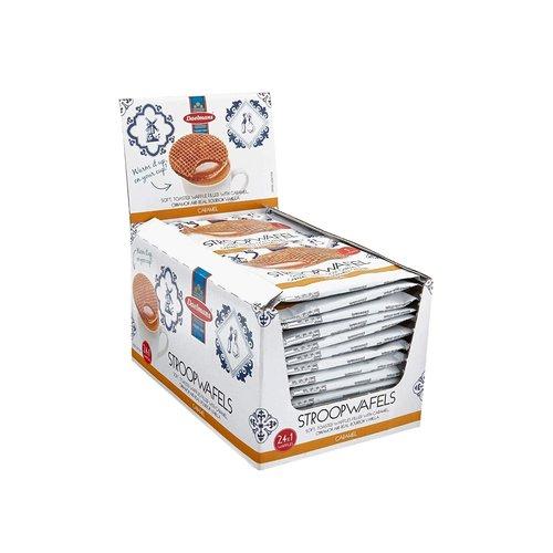 Daelmans Daelmans Jumbo Caramel Syrupwafer 24 ct Box