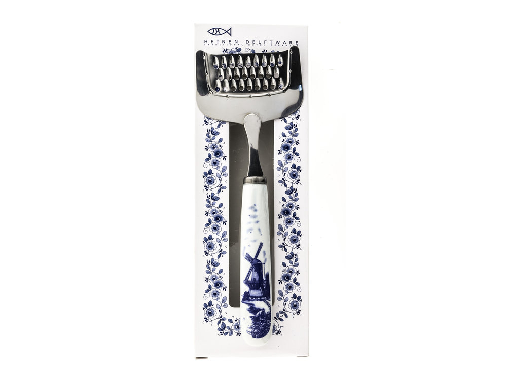 "Nelis Imports Cheese Grater Delft Handle 7.75"" Boxed"