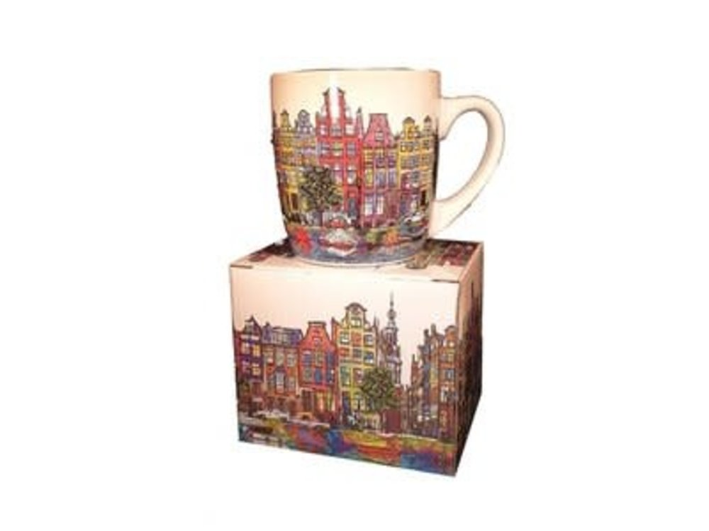 Amsterdam Mug Canal Houses Color Gift Boxed