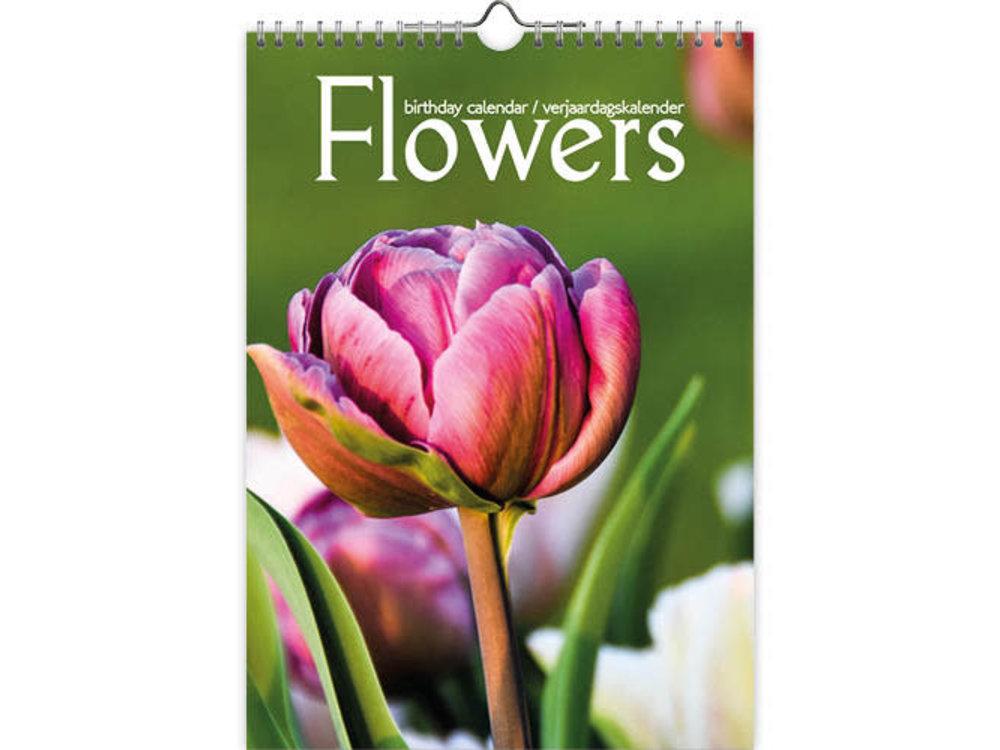 Birthday Calendar Modern Flowers Bright Colors