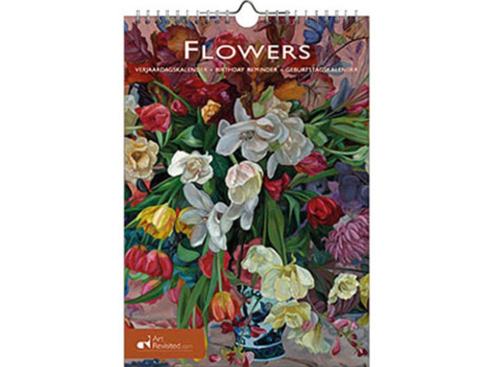 Birthday Calendar Artist Sketches of Flowers