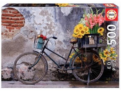 Games Puzzle Bicycle with Flowers  500 Pcs