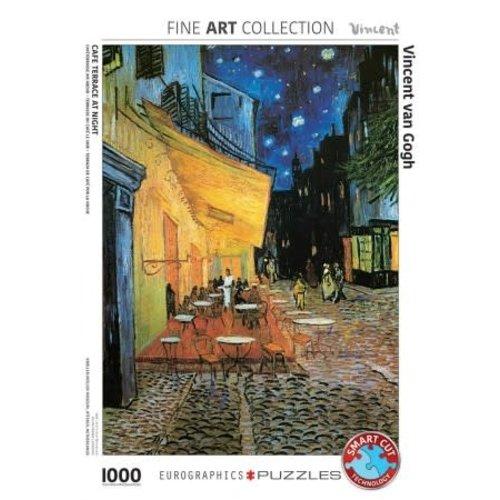 Games Puzzle Terrace at Night Van Gogh 1000 Pcs